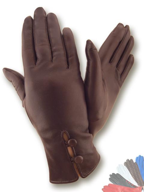 Жіночі рукавички з натуральної шкіри модель 046 на вовняної підкладці