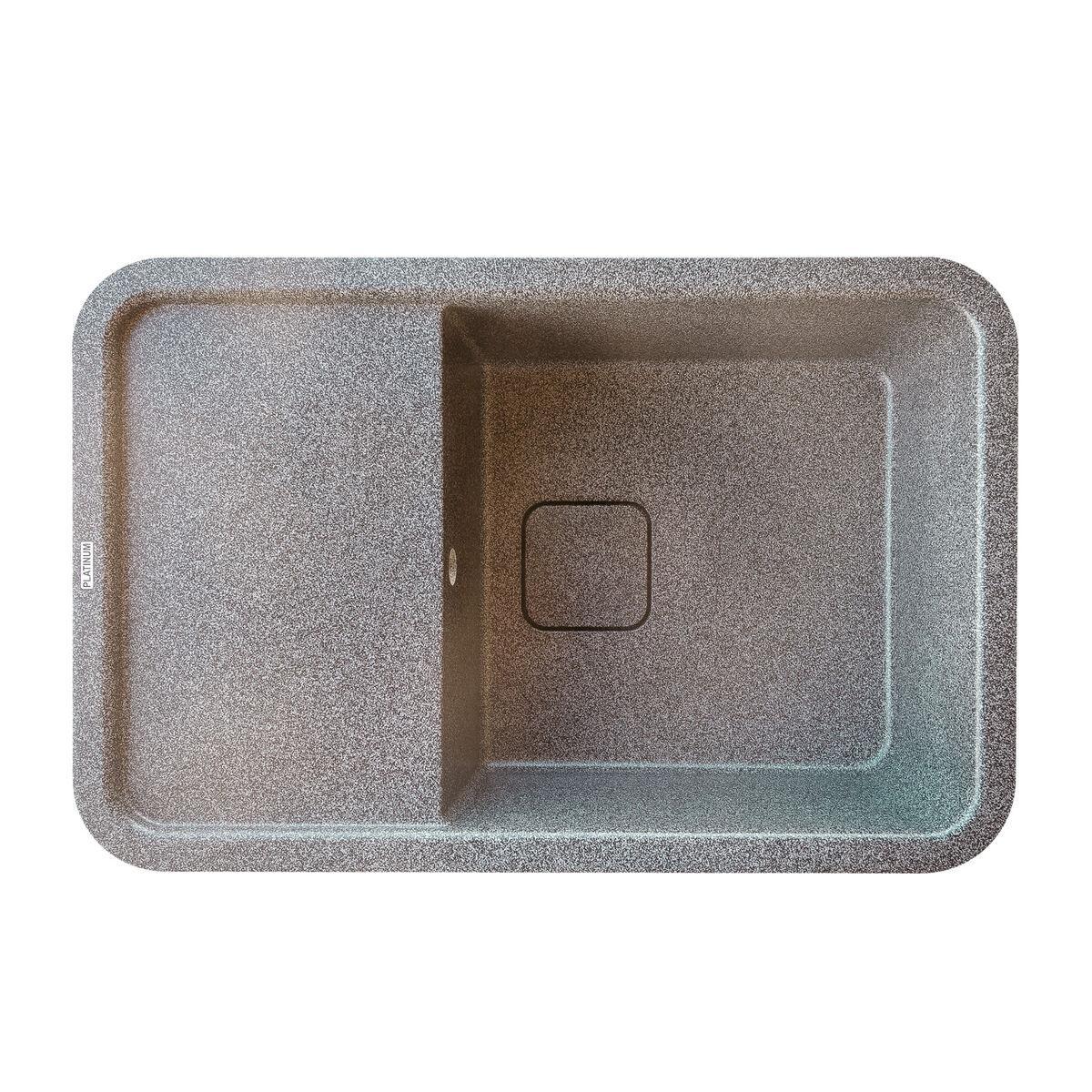 Гранітна мийка для кухні Platinum 7850 CUBE матова Мікс