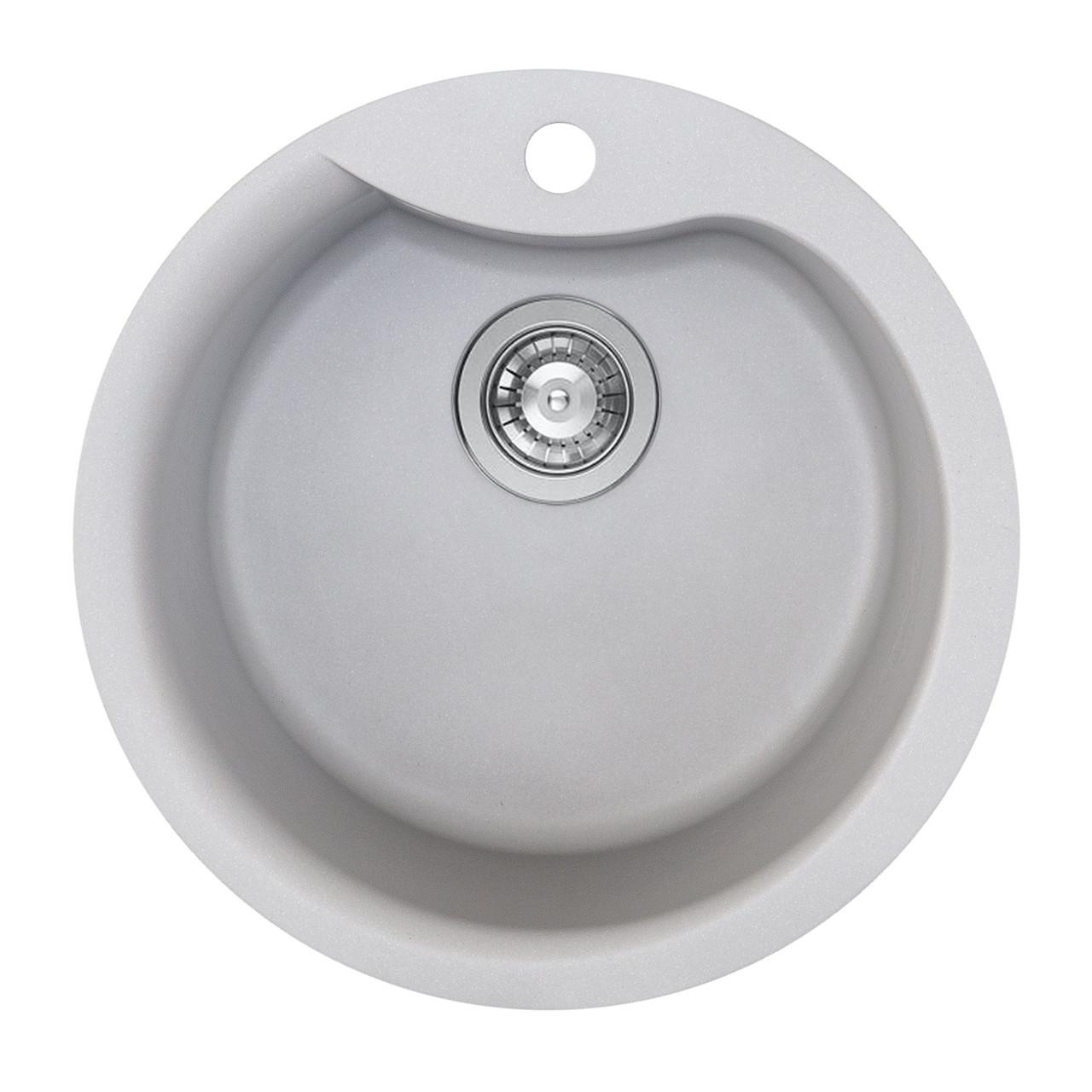Гранітна мийка для кухні Platinum 480 TURAS матовий Сірий мусон