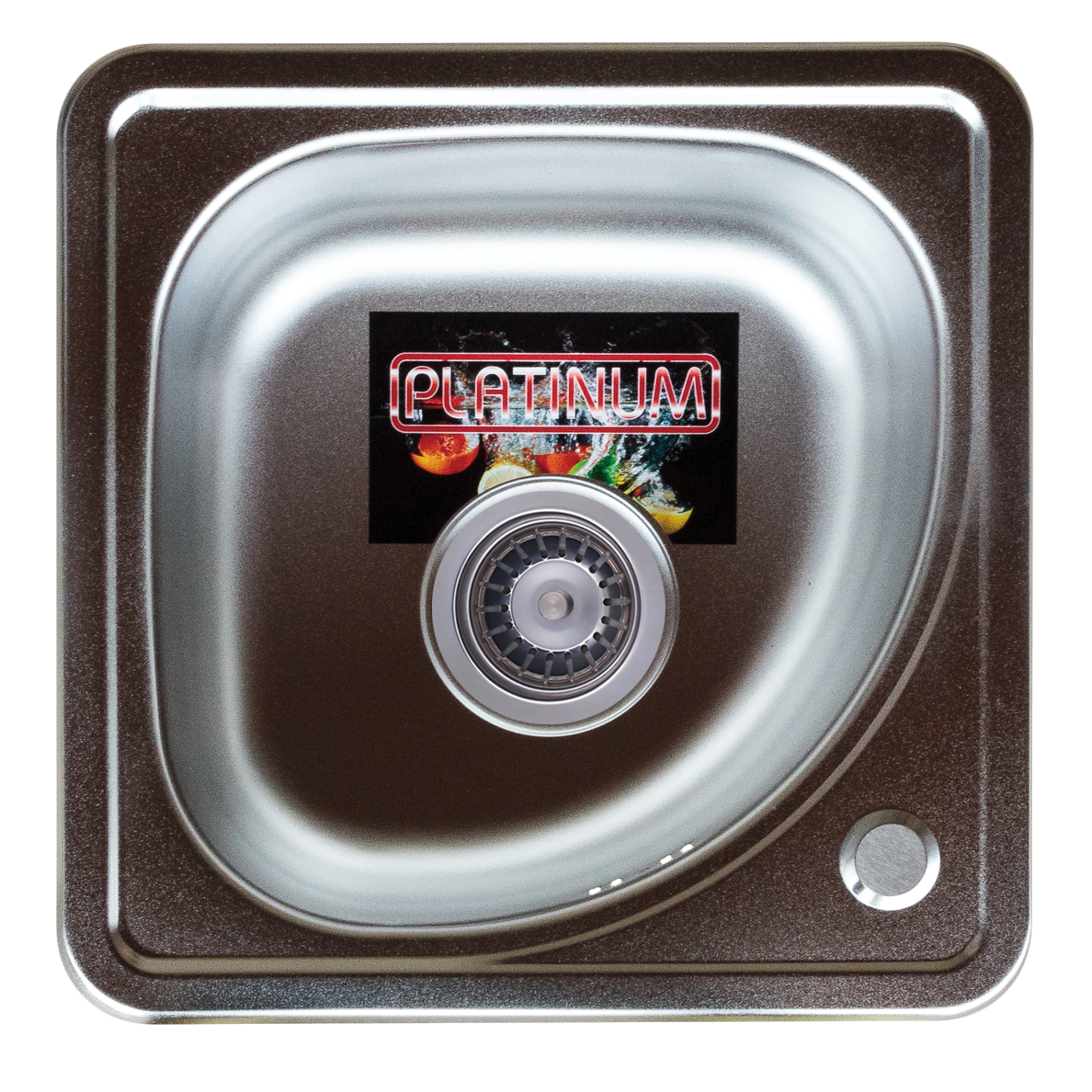 Кухонная мойка из нержавеющей стали Platinum 3838В ДЕКОР 0,6 / 160