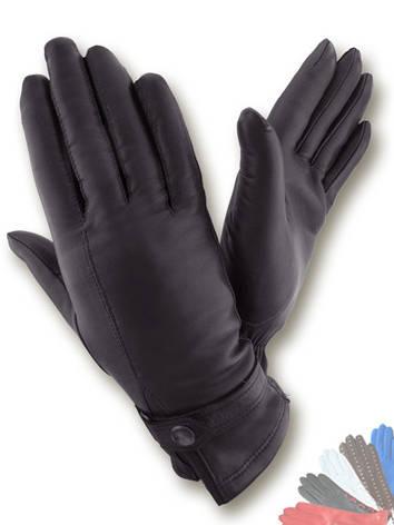 Женские перчатки из натуральной кожи модель 076 на шерстяной подкладке, фото 2