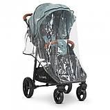 Прогулочная коляска-книжка для детей от 6 месяцев «EL CAMINO» X4 ME 1024 Cloud Blue, сине-зеленая, фото 7