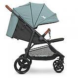 Прогулочная коляска-книжка для детей от 6 месяцев «EL CAMINO» X4 ME 1024 Cloud Blue, сине-зеленая, фото 9