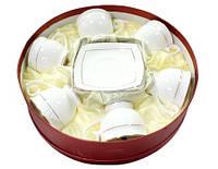 Набор чайный 12 предметов фарфоровый белый Снежная королева Interos 506710-AGIFT 280 мл