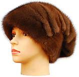 Норковая женская шапка Ника орех, фото 2