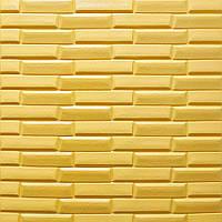 Декоративная 3Д панель Желто-Песочный Облицовочный кирпич 5 шт 3d панели стен кладка текстура 700x770x7мм, фото 1