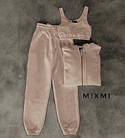 Жіночий спортивний костюм-трійка з капюшоном (Норма), фото 2