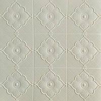 Потолочная панель ПВХ Цветы Ромбы 5 шт 3Д панели самоклеющаяся мягкая для потолка плитка 700*700*6мм, фото 1