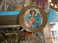 Иконы  круглые деревянные