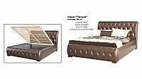 Кровать двуспальная с изголовьем  и подъемным механизмом ( ниша для белья ) Лагуна