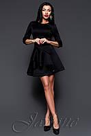 Черное платье из неопрена Бруни ТМ Жадон 42-48 размеры Jadone
