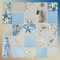 Декоративні панелі для стін ПВХ кахельна плитка Пляж 960 х 485мм стінова замість шпалер