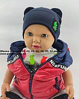 Шапки Оптом 40, 42, 44, 46, 48, 50 і 52 розмір трикотажна дитяча шапка головні убори опт дитячі, фото 1