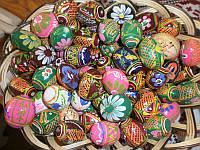 Яйца цветные деревянные