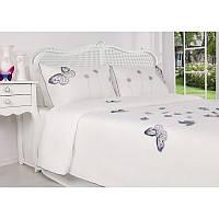 Евро комплект постельного белья Annablue 200х220см. Турция