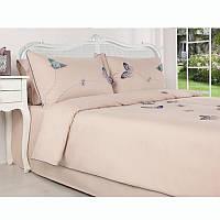 Евро комплект постельного белья Spring Azure 200х220см. Турция