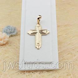 Классический позолоченный крестик