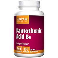 Пантотеновая кислота, витамин В5, Jarrow Formulas, 500 мг, 100 капсул