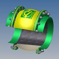 Тканевый компенсатор тип КТ 2,02 фланцевый с волной