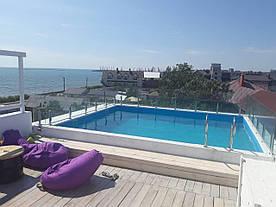 Огородження для басейнів зі скла, скляні перила та поручні для басейну, паркан в басейн, фурнітура нерж