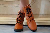 Модные яркие женские ботинки на шнурке экокожа мех