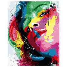 Картина по Номерам Яркая девушка 40х50см Strateg