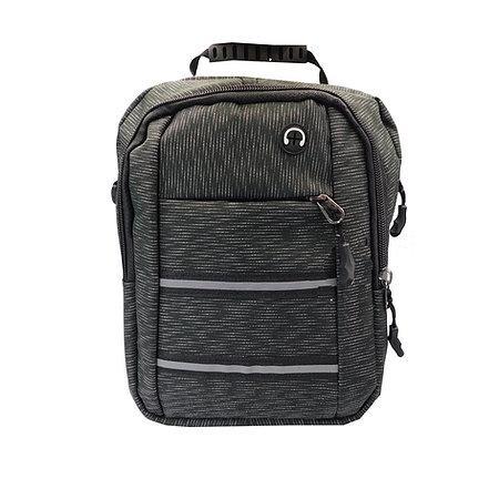 Мужская сумка спортивная тканевая на молнии с длинным ремешком 18,5*24 см Cans