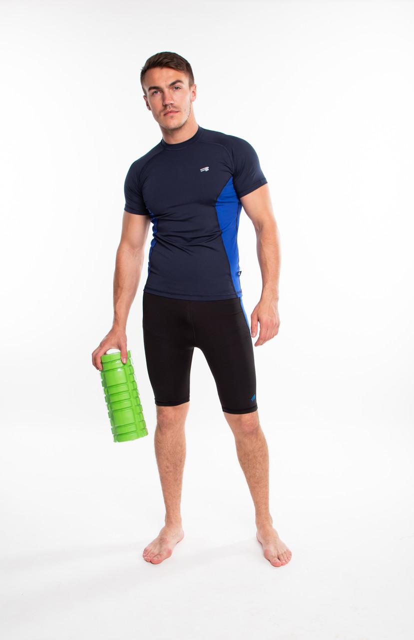 Мужская компрессионная спортивная футболка Rough Radical Fury Duo SS, рашгард с коротким рукавом
