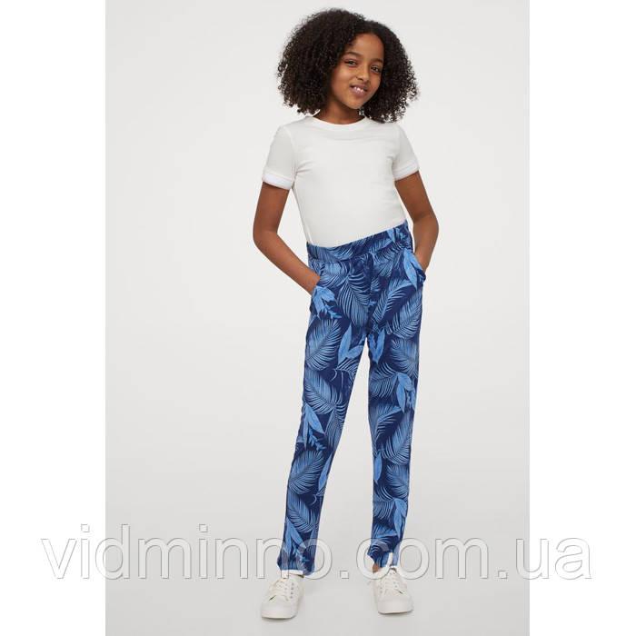 Трикотажные штаны джоггеры Листья H&M на девочку р.146 - 10-11 лет
