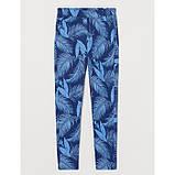 Трикотажные штаны джоггеры Листья H&M на девочку р.146 - 10-11 лет, фото 2