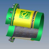 Тканевый компенсатор тип КТ 3,02 переходное крепление