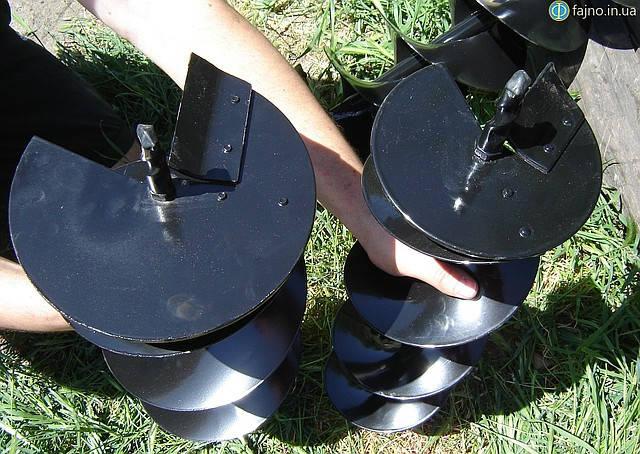 Шнек на 200 мм и шнек на 150 мм на мотобур Sadko AG-52 фото 11