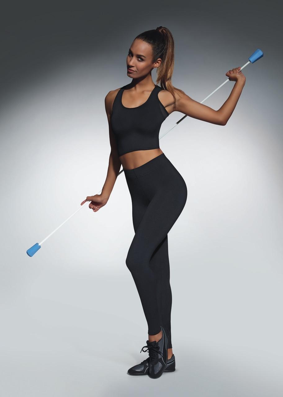 Спортивні жіночі легінси BasBlack Forcefit 90 (original), лосини для бігу, фітнесу, спортзалу