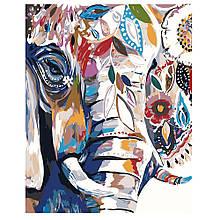 Картина по Номерам Абстрактный слон 40х50см Strateg