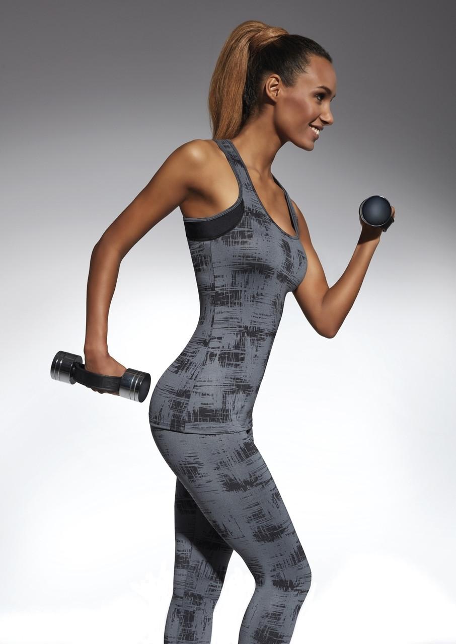 Спортивний жіночий топ BasBlack Intense-top 70 (original) подовжений, майка для бігу, фітнесу, спортзалу