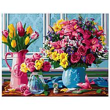 Картина по Номерам Букеты цветов 40х50см Strateg