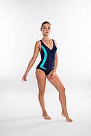 Закрытый женский купальник Aqua Speed Greta (original), цельный, слитный, для бассейна, для пляжа, фото 1