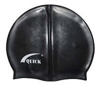 Шапочка для плавания «юниор» чёрного цвета, фото 1