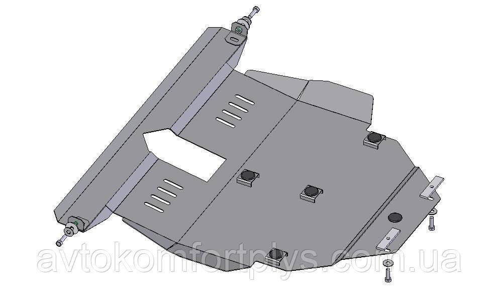 Металлическая (стальная) защита двигателя (картера) Toyota Auris (2006-2012) (V 1,8;)