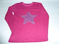 Малиновый топ с пайетками звезда