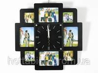 Семейные часы настенные с фоторамками