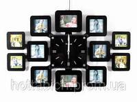 Большие настенные часы фоторамки Семья