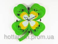 Часы деревянные Счастливый клевер
