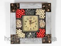 Декор часы Бусины и ракушки