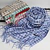 """Кашеміровий двосторонній шарф палантин """"Дінара"""" блакитний Cashmere 121001, фото 2"""
