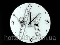 Часы настенные стеклянные Лестницы