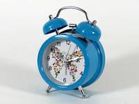 Голубой будильник настольный
