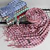 """Кашеміровий двухсторонній шарф палантин """"Дінара"""" розовий Cashmere 121002, фото 2"""