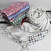 """Кашеміровий двухсторонній шарф палантин """"Дінара"""" білий Cashmere 121003, фото 3"""