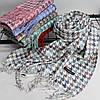 """Кашеміровий двухсторонній шарф палантин """"Дінара"""" білий Cashmere 121003, фото 2"""